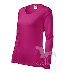 Iný materiál - Dámske tričko ADLER Slim (139), veľkosť L, malinová - 7792358_