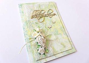 Papiernictvo - pohľadnica svadobná - 7789188_