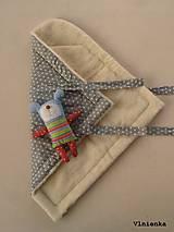 Textil - Klasická zavinovačka pre novorodenca zimná 100% MERINO TOP Hviezda sivá - 7789640_