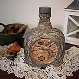 Nádoby - dekorovaná fľaša - 7791586_