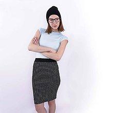 Sukne - Sukňa čierna bodkovaná - 7790936_