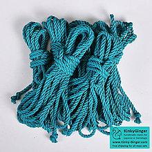 Nezaradené - Jutový provaz 7 mm tyrkysový – 6 ks pro bondage - 7788550_