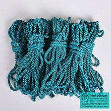 Nezaradené - Jutový provaz 7 mm tyrkysový – 8 ks pro bondage - 7788552_