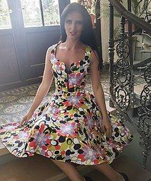 Sukne - Pestrofarebná retro sukňa - 7792723_