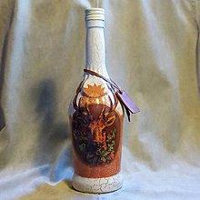 Nádoby - Lovecká fľaša Trofej hnedá - 7792606_