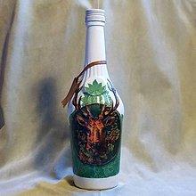 Nádoby - Lovecká fľaša Trofej zelená - 7792621_