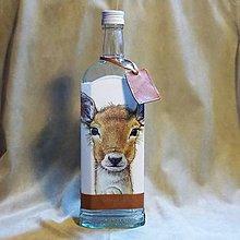 Nádoby - Poľovnícka fľaša Srnček alíška - 7792712_
