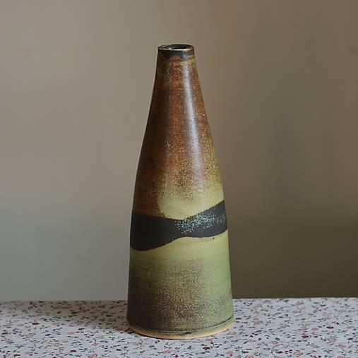 Dekorácie - Váza Píšťala - Z mechu a kapradí 2 - 7789121_