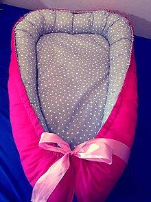 Textil - Hniezdo pre bábätko magenta - 7788772_
