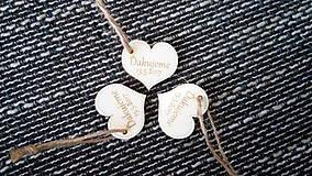 Darčeky pre svadobčanov - Mini srdiečko 2 - 7792375_