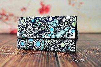 Peňaženky - Modré bublinky - 7788709_