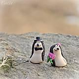 Darčeky pre svadobčanov - Personalizovaní svadobní ježkovia II. - menovky/darčeky pre hostí - 7791270_