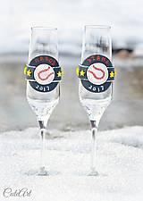 Nádoby - Láska a baseball - svadobné poháre - výroba podľa fotografie - 7791631_