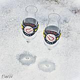 Nádoby - Láska a baseball - svadobné poháre - výroba podľa fotografie - 7791632_