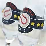 Nádoby - Láska a baseball - svadobné poháre - výroba podľa fotografie - 7791633_