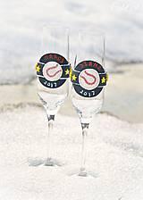 Nádoby - Láska a baseball - svadobné poháre - výroba podľa fotografie - 7791637_