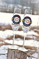 Nádoby - Láska a baseball - svadobné poháre - výroba podľa fotografie - 7791638_