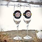 Nádoby - Láska a baseball - svadobné poháre - výroba podľa fotografie - 7791640_