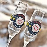 Nádoby - Láska a baseball - svadobné poháre - výroba podľa fotografie - 7791641_