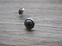 Náušnice - Perly - napichovačky 11mm (Tmavosivé perly, č.718) - 7790938_
