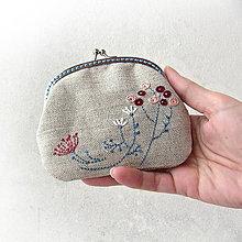 Peňaženky - Peňaženka Pastelové kvietky - 7788975_