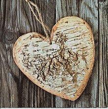 Papier - 338 drevené srdce - 7789063_