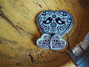 Sady šperkov - Sada šperkov s čierno-bielym folk vzorom - 7790179_
