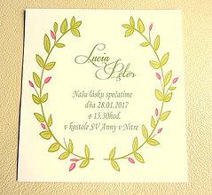 Papiernictvo - Svadobné oznámenie - 7790398_
