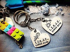 Kľúčenky - SRDIENKO s Tvojím textom ... cena je za 1ks - 7796143_