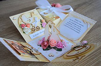 Papiernictvo - Blahoželanie na svadbu - krabička na peniaze - 7794110_
