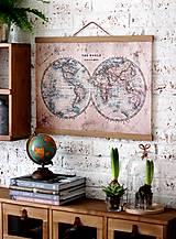 Grafika - Print  na plátne CABINET OLD MAP A2 - 7795613_