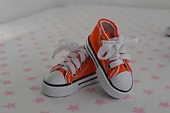 Iný materiál - Tenisky-oranžové - 7796482_