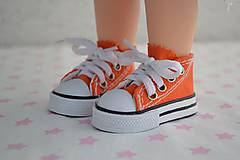 Iný materiál - Tenisky-oranžové - 7796495_