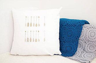 Úžitkový textil - Povliečka so zlatými šípmy - 7793367_