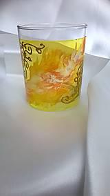 Svietidlá a sviečky - Maľovaný svietnik Gold - 7794293_