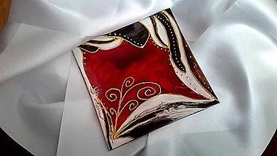 Svietidlá a sviečky - Maľovaný svietnik Rouge - 7795715_