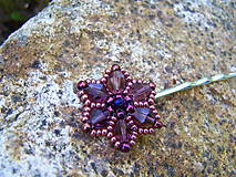 Ozdoby do vlasov - fialové kvietky - 7796731_
