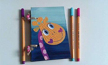 Papiernictvo - žirafkový zápisník - 7796691_