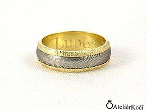 Prstene - Prsten Erós se zlatem - 7795914_