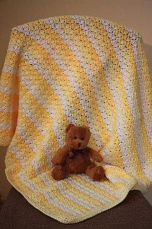 Textil - Háčkovaná deka pro miminko- Žluté tóny - 7794217_