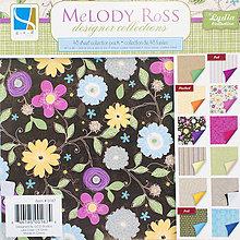 Papier - GCD - Lydia (luxusný kvetinový papier na scrapbooking, 8x8, 12ks) - 7793254_