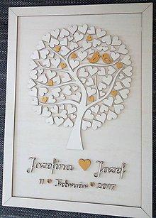 """Dekorácie - Svadobný strom """"Birds of love"""" - kniha hostí - 7797318_"""