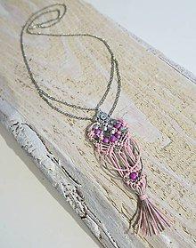 Náhrdelníky - Romantický náhrdelník - korunka a srdce - 7796640_