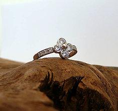 Prstene - prsteň v bielom - 7793939_