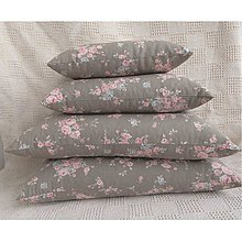 Úžitkový textil - FILKI šupkový vankúš na spanie 45 cm (hnedo-sivá romantika) - 7793107_