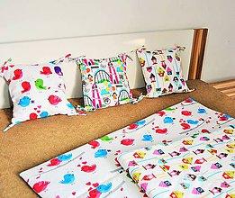 Úžitkový textil - Prehoz na posteľ a tri vankúšiky - 7801839_