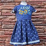 Detské oblečenie - Modré s vtáčikom. - 7800566_