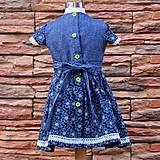 Detské oblečenie - Modré s vtáčikom. - 7800568_