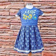 Detské oblečenie - Modré s vtáčikom. - 7800567_