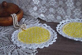Úžitkový textil - podložky žlté - 7799842_